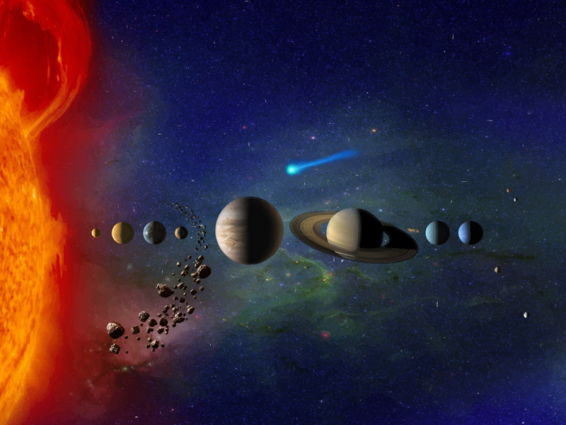 Солнечная Система: размеры, масса, скорость, возраст, планеты и спутники